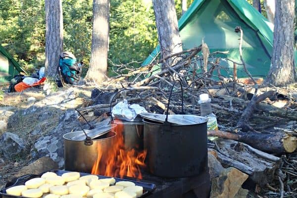 cooking-at-camp-600x400 Canoe the Boundary Waters BWCA with a beginner paddler