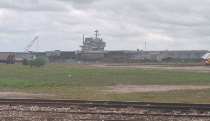 USS_Forrestal_at_Brownsville-690x400 Boca Chica Texas - From the Civil War to SpaceX