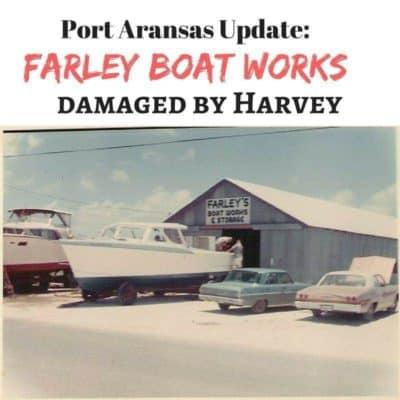 Port Aransas Farley Boat Works damaged by hurricane