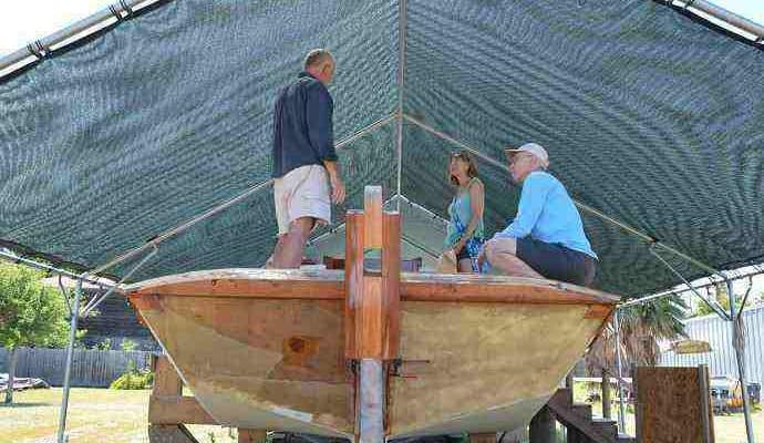 Port-Aransas-scow-schooner-with-Dan-Pecore-690x400 Port Aransas and the Texas Scow Schooner Project